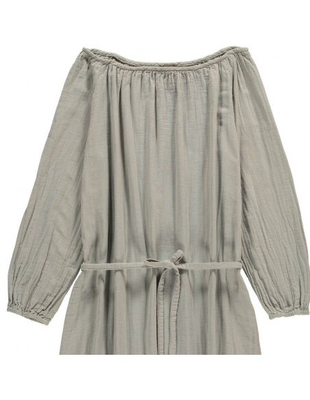 Numero 74 - Dress for mum Nina long silver grey - 2