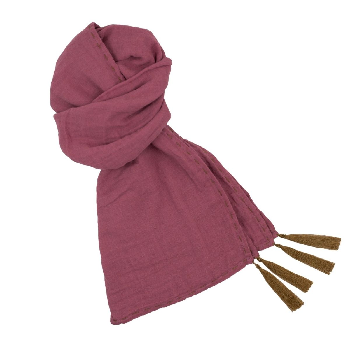 Numero 74 - Scarf flashy baobab rose - 1