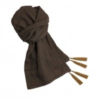 Scarf flashy taupe