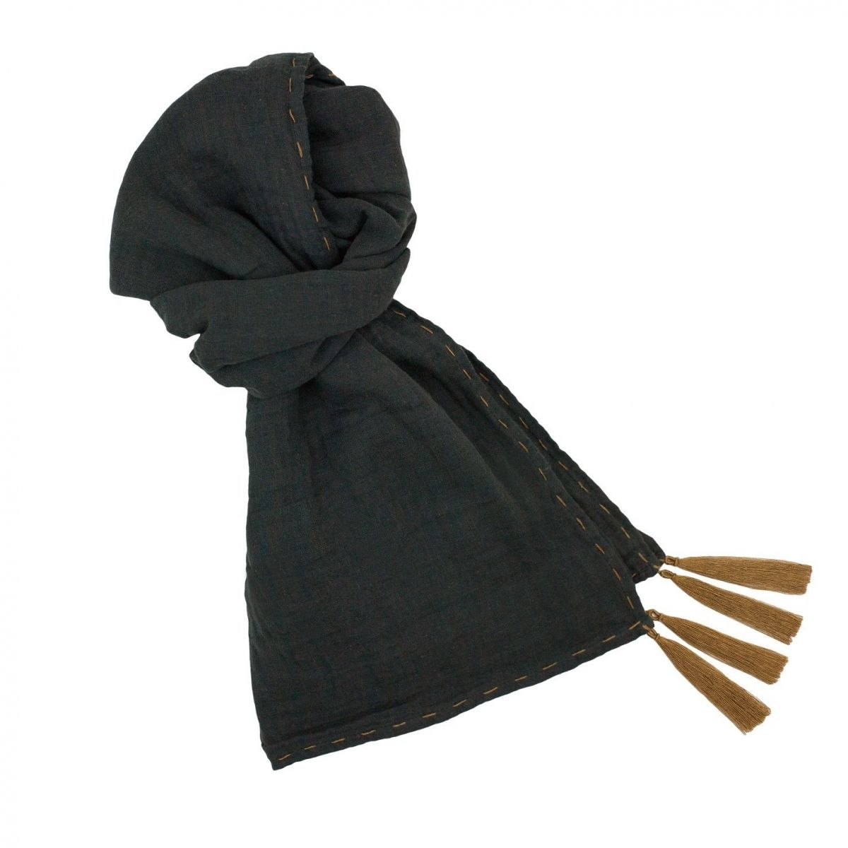Numero 74 - Scarf flashy dark grey - 1
