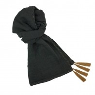 Scarf flashy dark grey