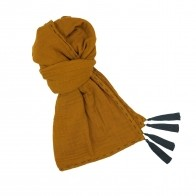 Scarf flashy gold