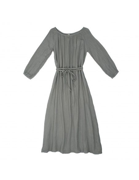 Numero 74 - Dress for mum Nina long silver grey - 1