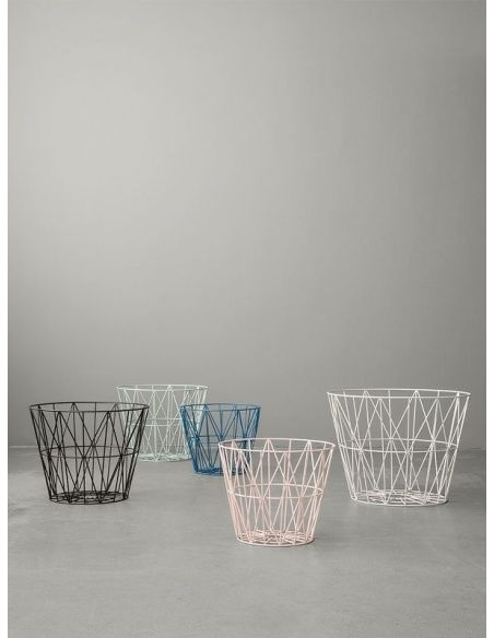 Ferm LIVING - Wire Basket black - 2