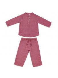 Numero 74 - Suit Dan shirt & pants baobab rose - 1
