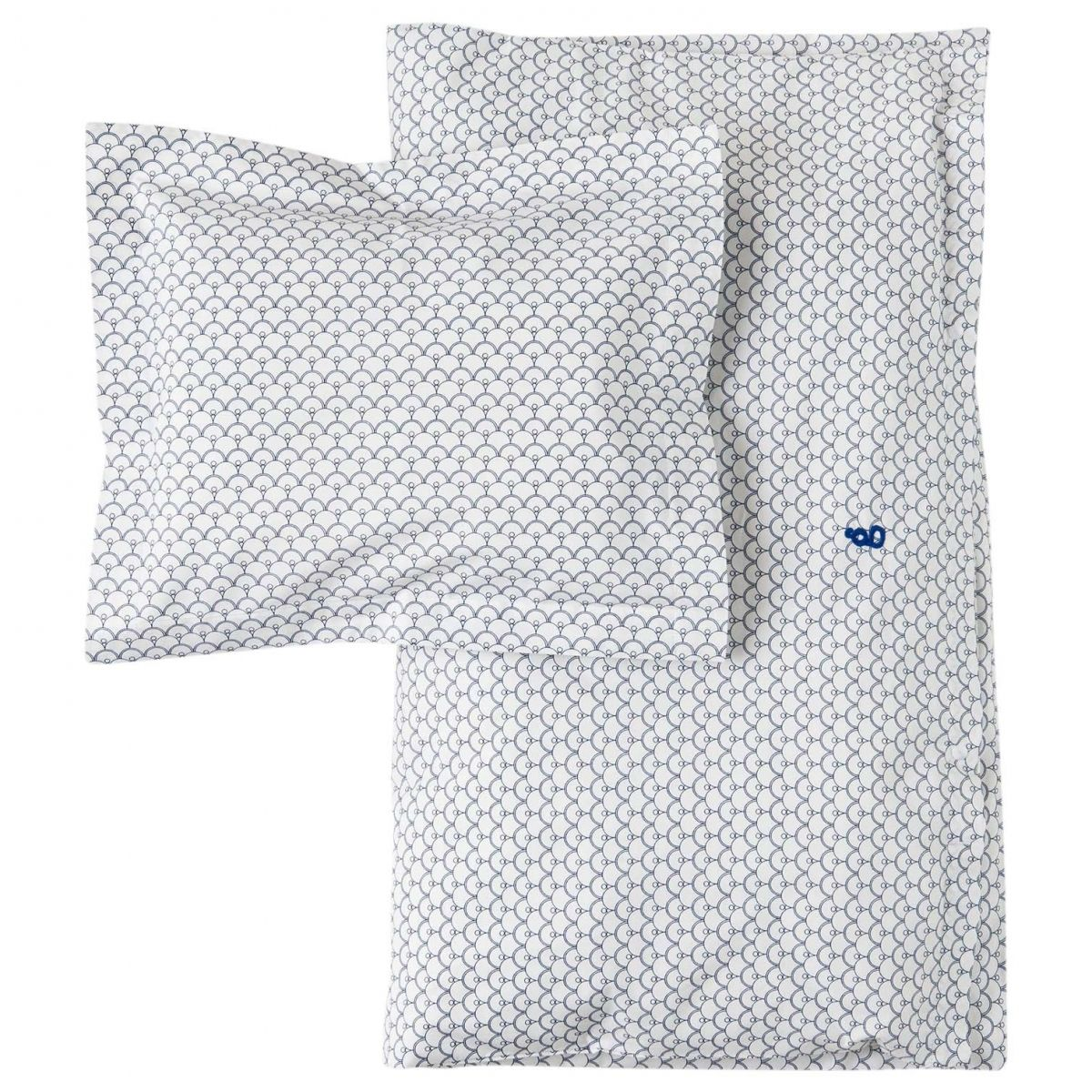 Garbo & Friends - Cupola Blue Baby Bedset BS SE white - 1