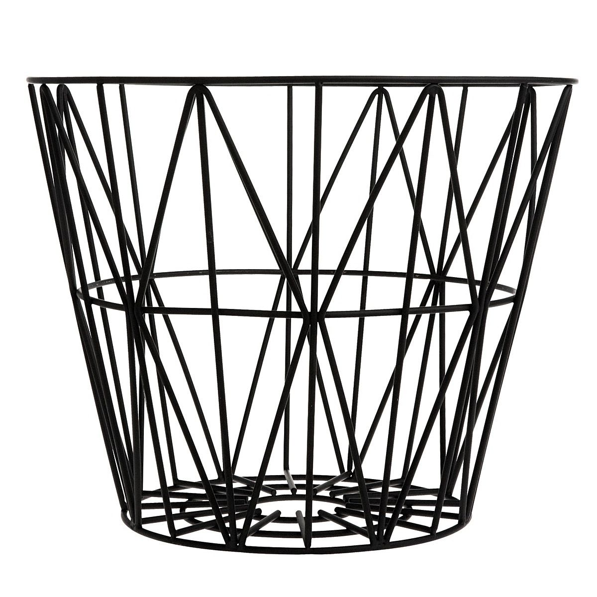 Ferm LIVING - Wire Basket black - 1