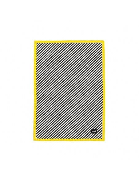 Ferm LIVING - Koc Striped Quilted czarny - 1