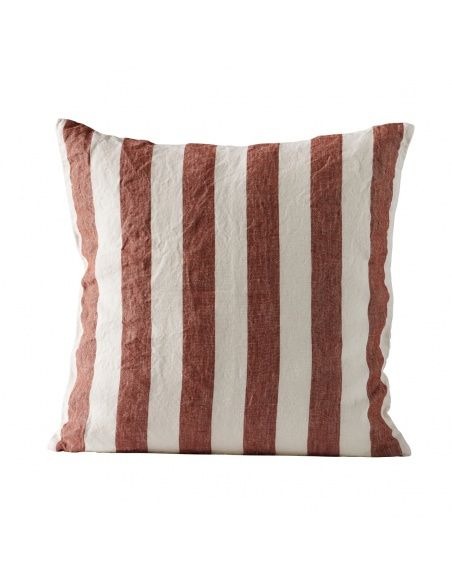 Tine K home - Cushion cover striped rust - 1