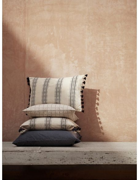 Tine K home - Cushion cover striped rust - 2