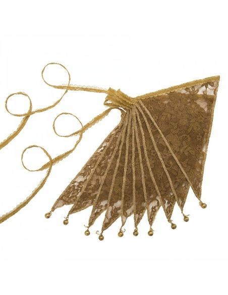 Numero 74 - Bunting Garland Lace Flower gold - 1