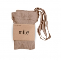 Cotton tights with braces beige
