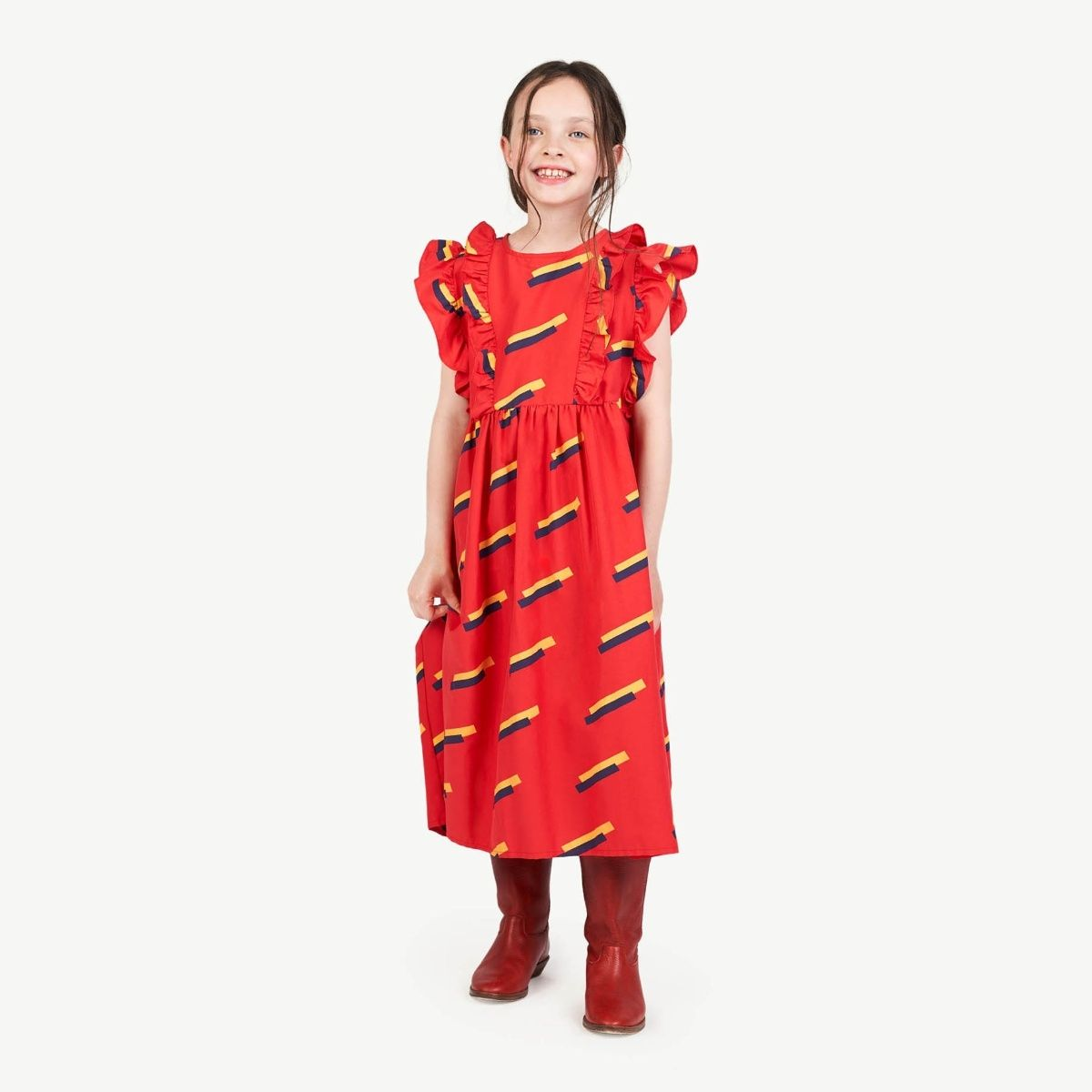 The Animals Observatory - Robe loutre années 80 rouge - 1