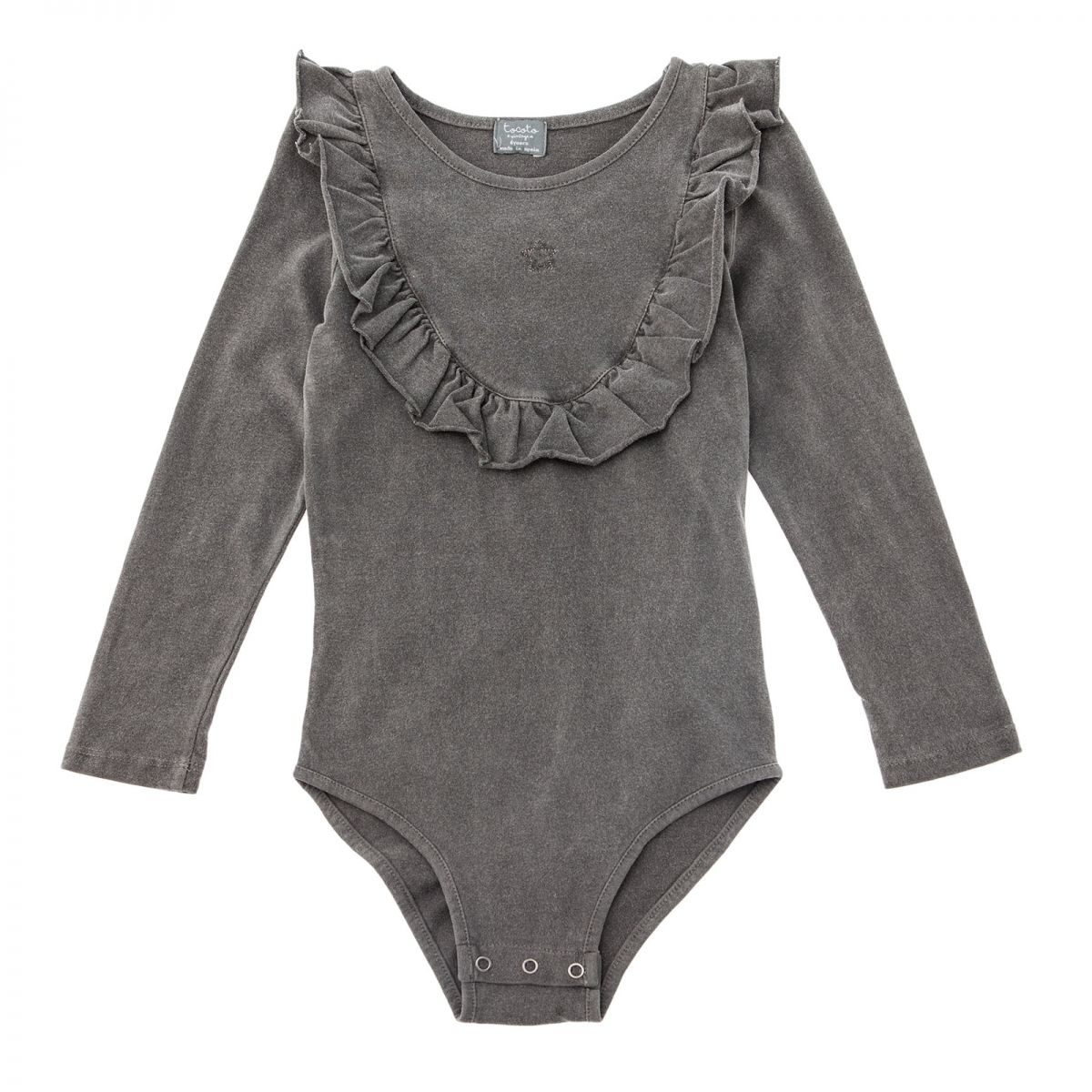 Tocoto Vintage - Jersey body with frill grey - 1