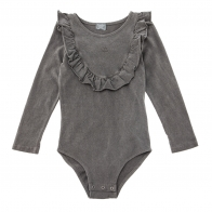 Jersey body with frill grey