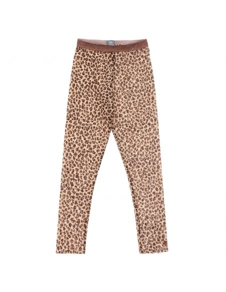 Tocoto Vintage - Animal print tulle trousers brown - 1