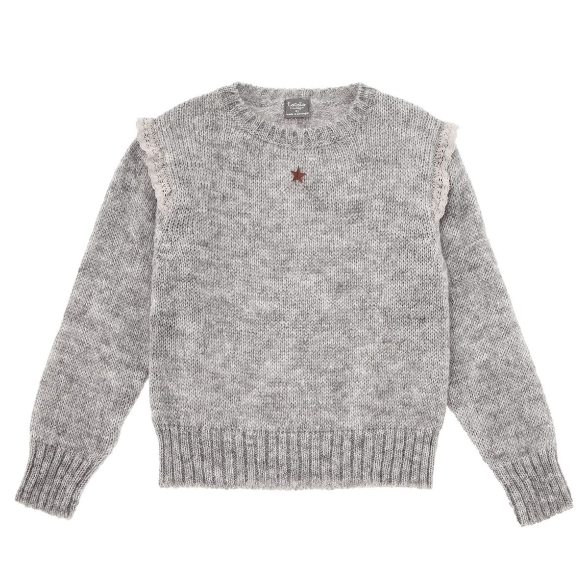 Tocoto Vintage - Sweter knitted szary - 1