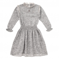 Knitted elastic dress grey