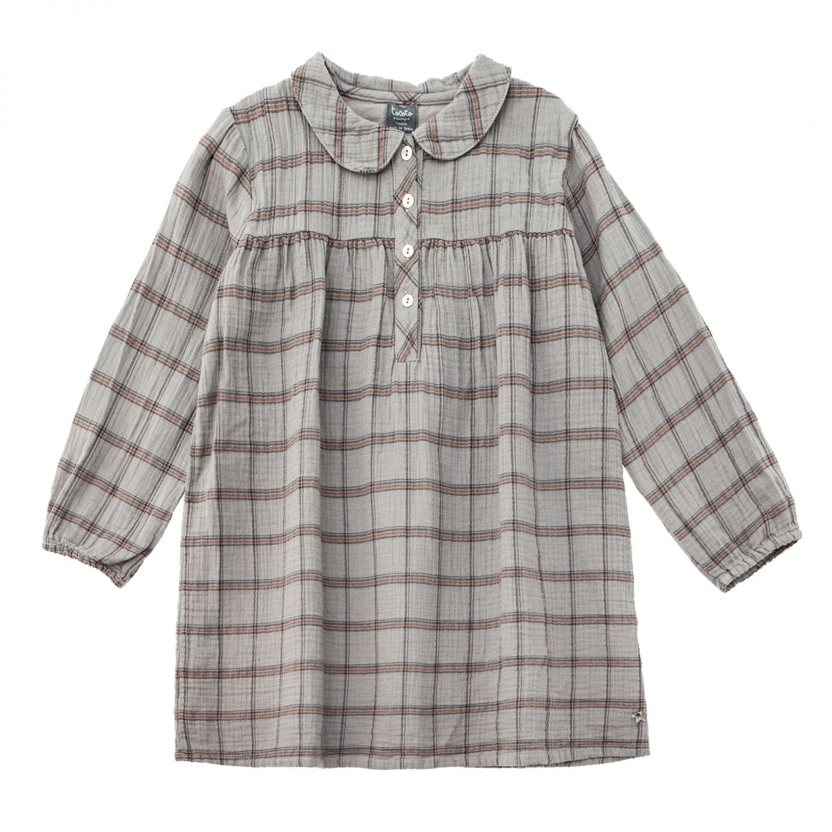 Tocoto Vintage - Checkered peter dress grey - 1