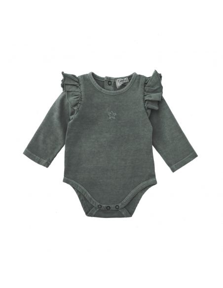 Tocoto Vintage - Plain jersey body grey - 1