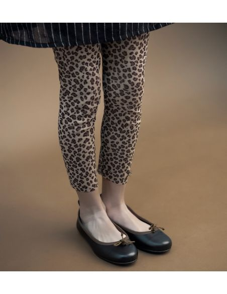 Tocoto Vintage - Animal print tulle trousers brown - 2