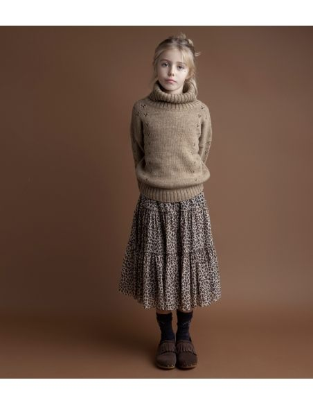 Tocoto Vintage - Sweter turtle-neck brązowy - 3