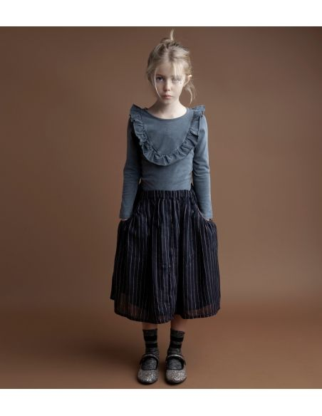 Tocoto Vintage - Jersey body with frill grey - 2
