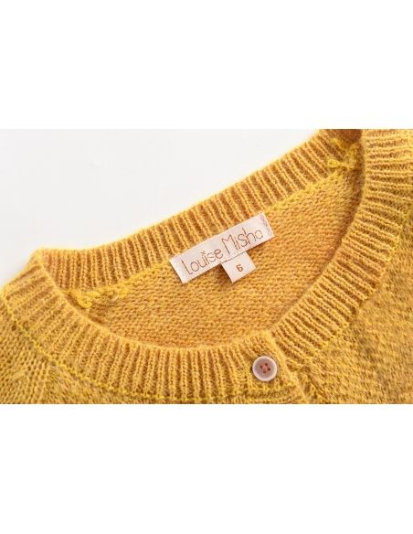 Louise Misha - Cardigan Pacolia moutarde - 7