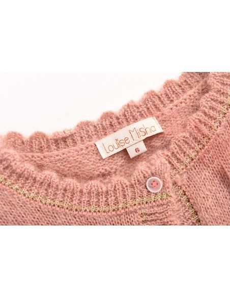 Louise Misha - Cardigan Lunata rose - 5