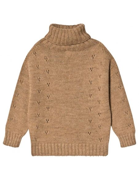 Tocoto Vintage - Sweter turtle-neck brązowy - 2