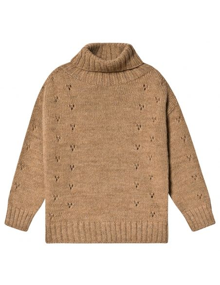 Tocoto Vintage - Sweter turtle-neck brązowy - 1