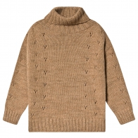Turtle-neck sweater brown