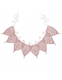 Bunting Garland Crochet dusty pink