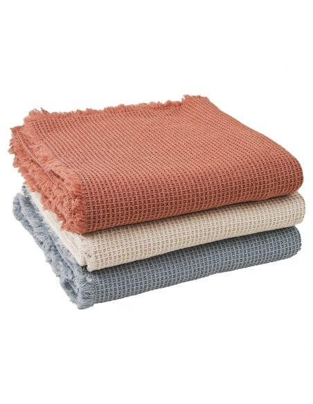 Garbo & Friends - Ecru Waffle Cotton Blanket - 2