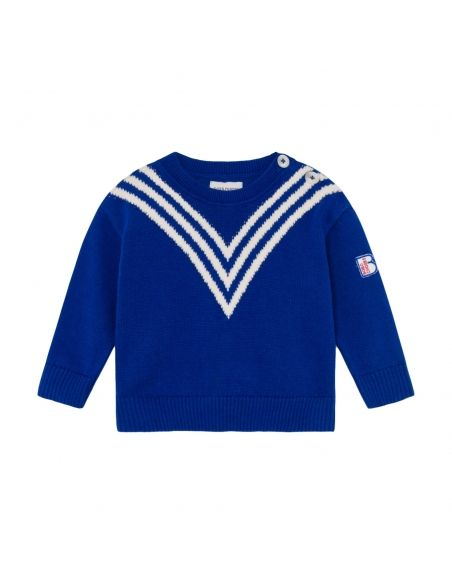 Bobo Choses - Three Stripes Knitted Jumper - 1