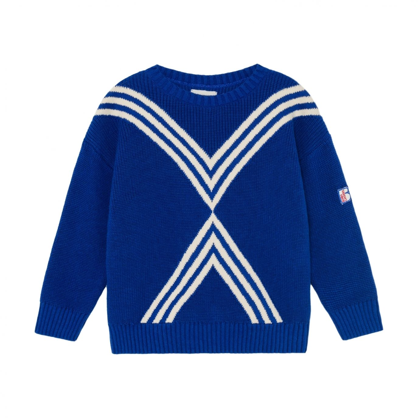 Bobo Choses - Three Stripes Knitted Jumper Blue - 1