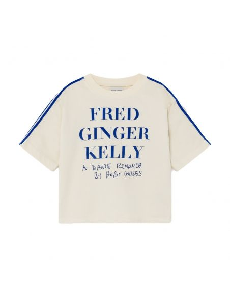 Bobo Choses - Fred, Ginger & Kelly Short Sleeve Sweatshirt White - 1