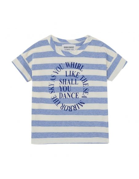 Bobo Choses - Shall You Dance Striped T-shirt White-Blue - 1