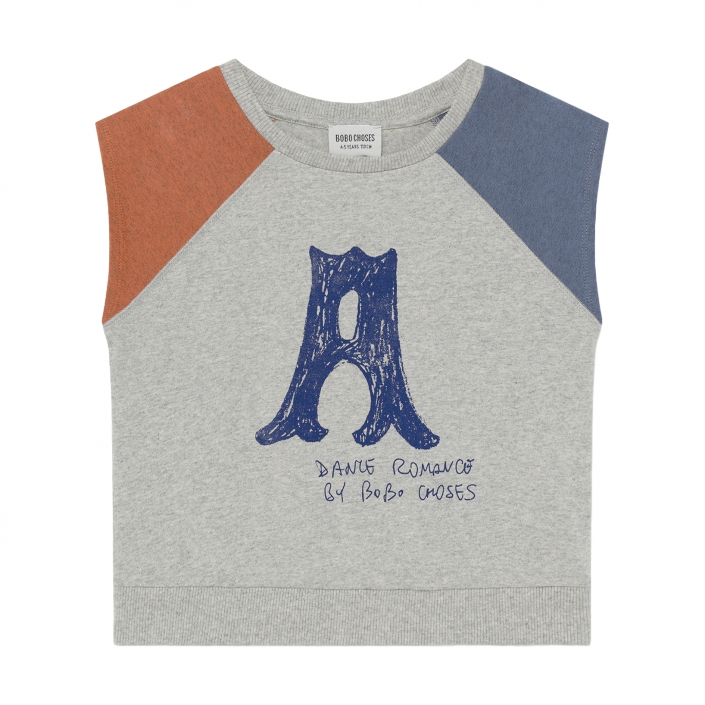 Bobo Choses - A Dance Romance Sleeveless T-shirt Grey - 1