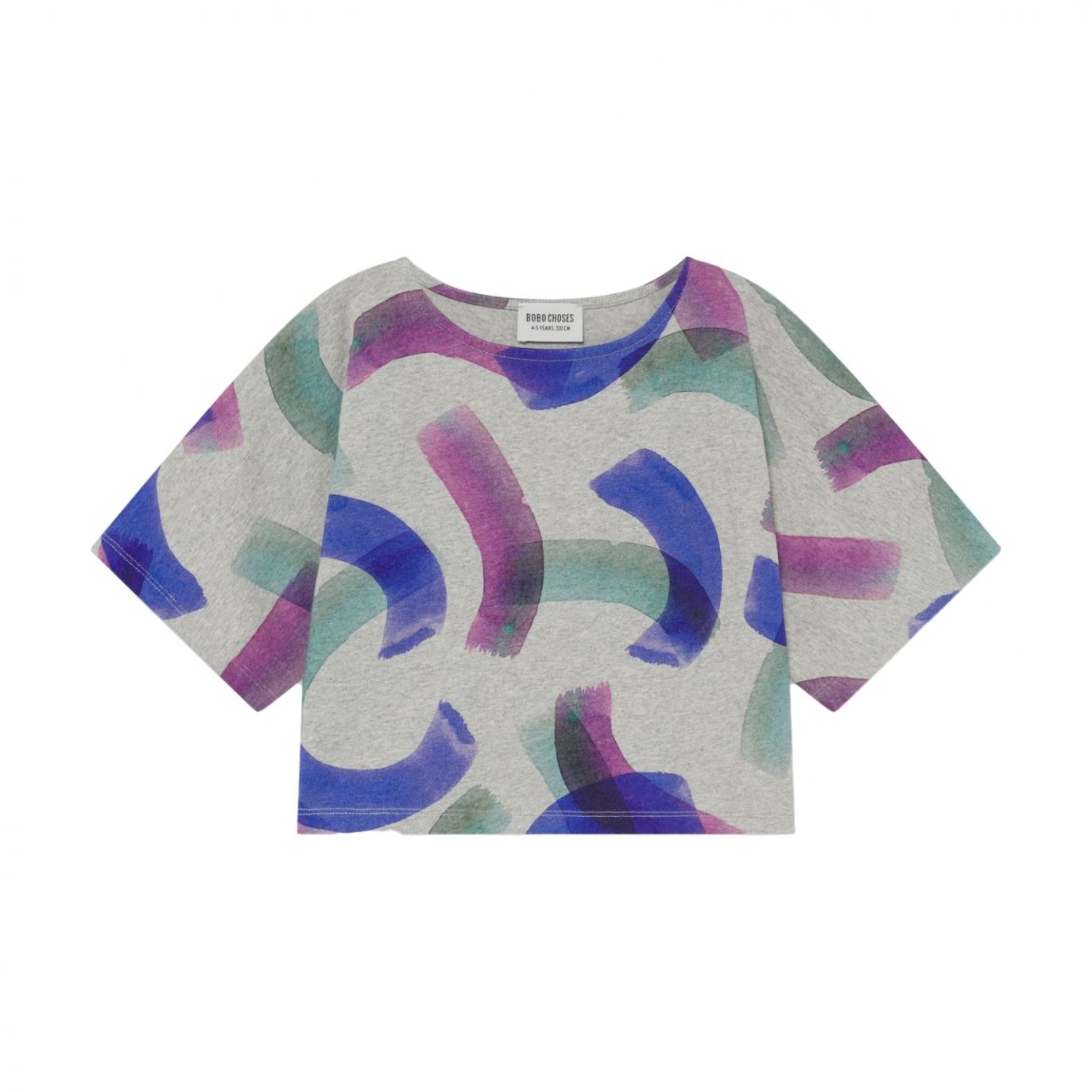 Bobo Choses - All Over Painted T-shirt Grey - 1