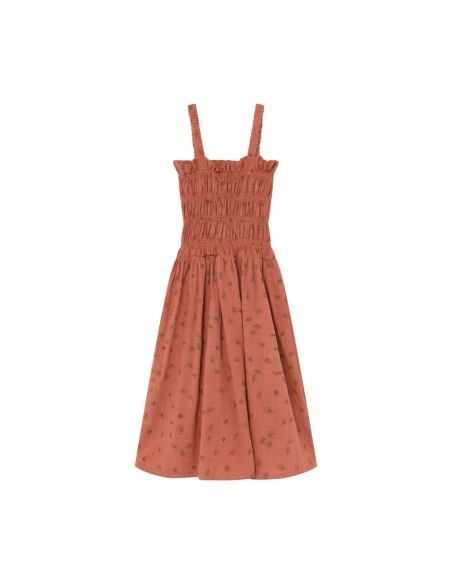 Bobo Choses - All Over Daisy Smoked Dress Brown - 2