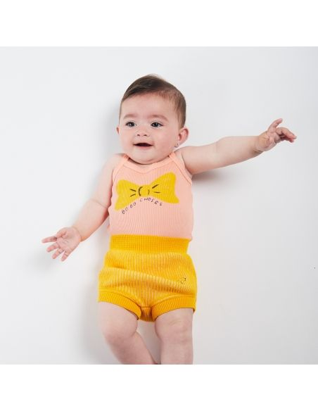 Bobo Choses - Striped Knitted Culotte Yellow - 3
