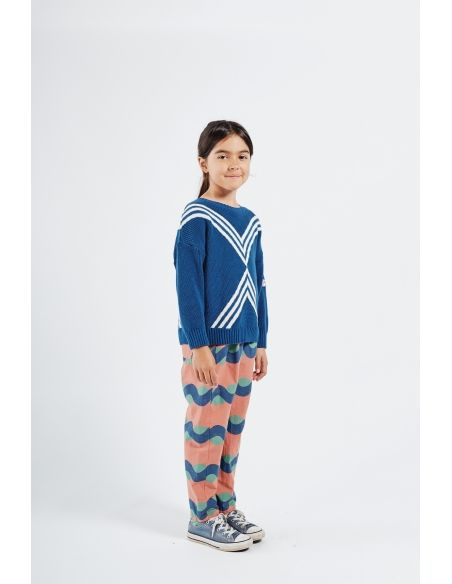 Bobo Choses - Three Stripes Knitted Jumper Blue - 2