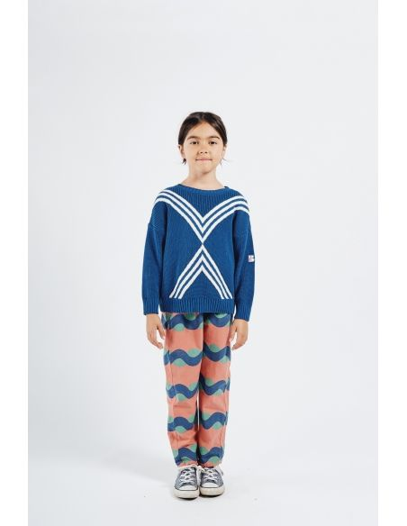 Bobo Choses - Three Stripes Knitted Jumper Blue - 3