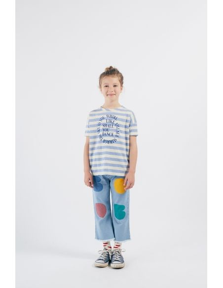 Bobo Choses - Shall You Dance Striped T-shirt White-Blue - 2