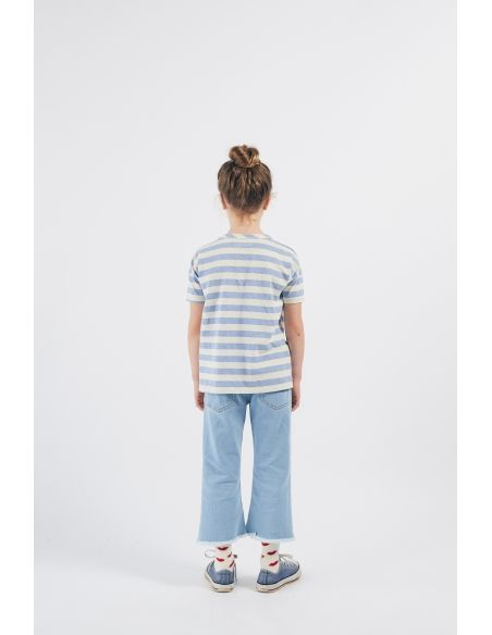 Bobo Choses - Shall You Dance Striped T-shirt White-Blue - 4