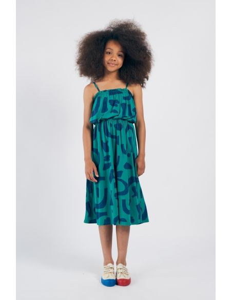 Bobo Choses - Abstract Jersey Dress Green - 3