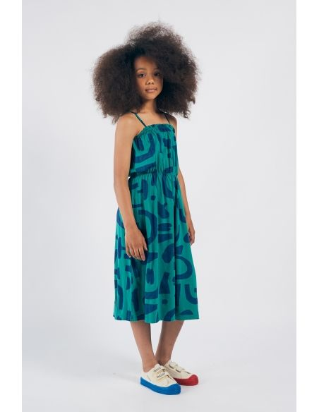 Bobo Choses - Abstract Jersey Dress Green - 5