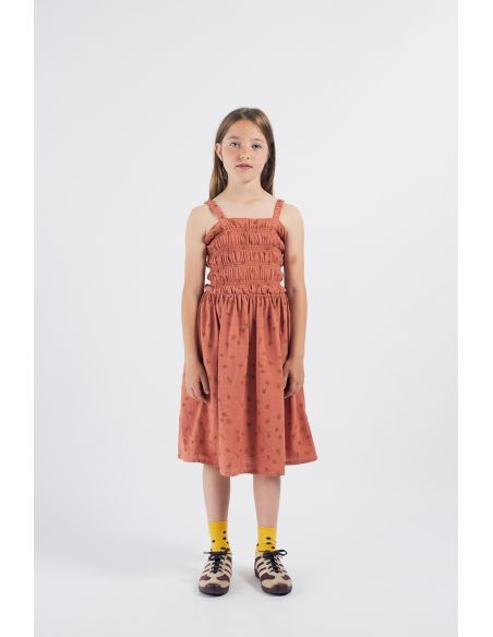 Bobo Choses - All Over Daisy Smoked Dress Brown - 3