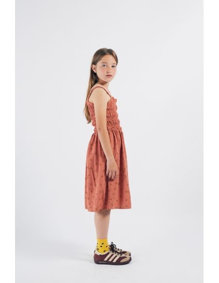 Bobo Choses - All Over Daisy Smoked Dress Brown - 4